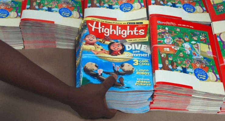 Highlights是陪伴兒童暑假的教育雜誌