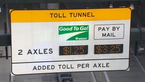 99隧道系統錯誤致超額收費 6.5萬駕駛人將收到退款
